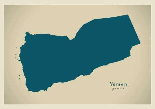 Map outline of Yemen